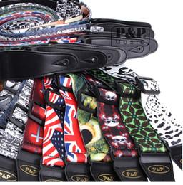 Wholesale Fashion M Length CM Width Colorful Printing Cotton Adjustable Guitar Straps for Acoustic Folk Classic Electric Guitar