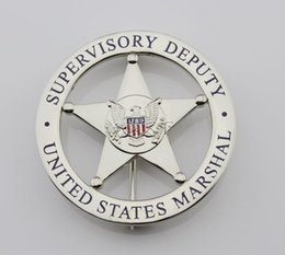 Wholesale United States emblem MARSHAL SUPERVISORY DEPUTY US federal court law enforcement badges Silver