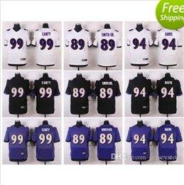 Wholesale Football jerseys Steve Smith Sr Carl Davis camty Jerseys Number Panthersded Blue Black White
