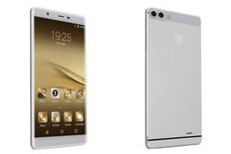 Wholesale Envío libre Huawei P9 más el clon máximo bit MTK teléfono de la base del octa teléfono g lte el teléfono móvil del androide gb del zumbido el goofón P9