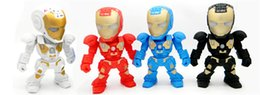 Wholesale Newest C Iron Man Transformer Robot Design Bluetooth Mini Speaker Led Light Flashing Portable Wireless Hifi Music Player Box FM Radio