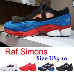 Wholesale Cheap Raf Simons Consortium Ozweego Fashion Mens Womens Running Shoes Authentic Black White Red Sneakers Boots Sale Size US5 US11