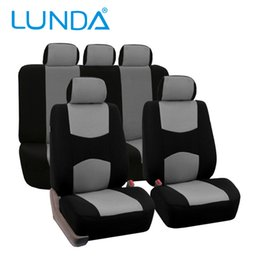 Wholesale LUNDA Seats Car Seat Covers Universal Fit Polyester MM Composite Sponge Car Styling car cushion covers seat cover accessories