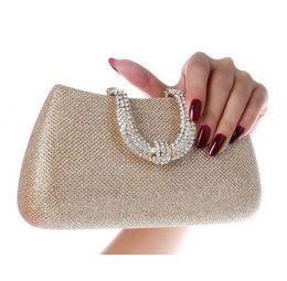 2016 new women crystal U Diamond clasp clutch bags glitter silver evening bags gold clutch party purse woman handbag shoulder bag