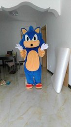 Wholesale Sonic Costumes For Adults - Wholesale-mascot costumes for adults christmas Halloween Outfit Fancy Dress Suit Free Shipping sonic Sonic the Hedgehog