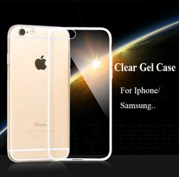 0.5mm Crystal Gel Case For Iphone 6 6s plus 5 5s 4s Ultra-Thin transparent Clear Soft TPU Cases Samsung galaxy s7 edge cover