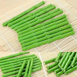 Wholesale 20pcs Lifelike Bamboo Shaped Ball Point Pen Signing Pen Ballpoint Pen Writing Supplies Papelaria