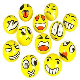 Wholesale Modern FUN Emoji Face Squeeze Balls Stress Relax Emotional Hand Wrist Exercise Stress Toy Balls Toy Mar21