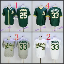 Wholesale Oakland Athletics Mark Mcgwire jose canseco Baseball Jersey Cheap Rugby Jerseys Authentic Stitched Size