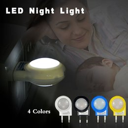 Wholesale New arrival Mini LED Night Light AC110V V W Lighting Auto Sensor Smart Baby Bedroom Lamp Color EU Plug Night lamp