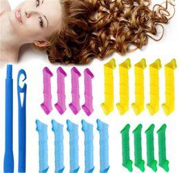 DIY MAGIC LEVERAG Magic Hair Curler Roller Magic Circle Hair Styling Rollers Curlers Leverag perm