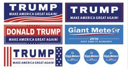 Wholesale 500pcs Donald Trump for President Make America Great Again Bumper Stickers Size mm F730