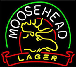 Moosehead Real Glass Neon Light Sign Home Beer Bar Pub Recreation Room Game Room Windows Garage Wall Sign