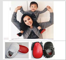 Baby white black red sole leather shoes soft sole cute patchwork moccasins newborn Moccs Fedex UPS free