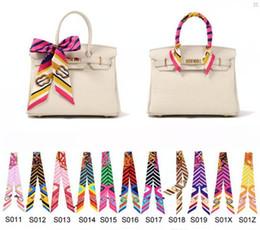 240 Styles Twilly Scarfs Multi-function Ladies Scarf Headband Fashion Handbag Decoration Accessories Twilly Scarf Brand Bow Hair Bands 11