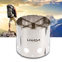 Wholesale LIXADA Portable Stainless Steel Lightweight Wood Stove Outdoor Camping Cooking Picnic Backpacking Stove DHL Y2552