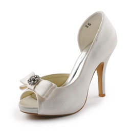 Wholesale Cheap Nice Satin delicate style Wedding Shoes Custom Made cm High Heel Bridal Shoes Party Prom Women Shoes