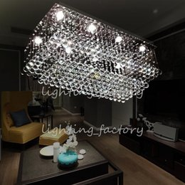 100*45 cm Crystal chandelier crystal lamp living room lamp modern and stylish restaurant rectangular LED crystal lamp hanging