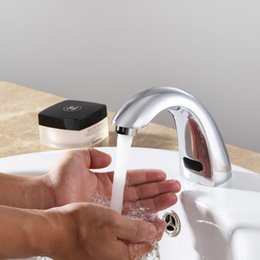 Wholesale Brass Automatic Basin Sensor Faucets Single Cold And Hot Water Mixer Sense Faucet Basin Hand Washer