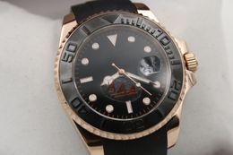 Wholesale Hot Sale Rlx Master Auto Oysterflex bracelet Gold Gent s Wrist watch mm Sapphire glass Original clasp HK