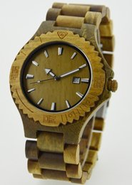 Wholesale Wooden Mens watches Casual Quartz wristwatch fashion casual watch automatic luxury women unisex Imitation Wood data colors