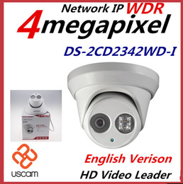 HIKVISION New English Version IP Camera 4.0 megapixel V5.3.3 Multi Language IR Dome Camera IP Camera Outdoor DS-2CD2342WD-I