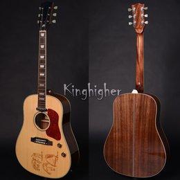 En stock OEM Chine fabriqué handcraft guitare acoustique, top épicéa massif, vente chaude guitares électriques acoustiques à partir de china stock guitare fabricateur