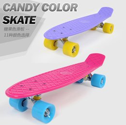 Wholesale High quality Skate Board quot Lightweight Complete Durable Plastic Skateboard penny board for Boy Girl Outdoor Activities