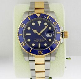Wholesale Luxury AAA Top Quality Stainless Steel k YG Blue Dial Auto B P Ceramic Bezel Automatic Mechanical Mens Watch Men s Wrist Watches