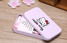 Wholesale Free DHL New Hello Kitty Sweet pink black Mini Makeup brush Set cosmetics kit de pinceis de maquiagem make up brush Kit with Metal box
