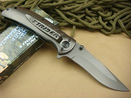 Top quality Strider knives 318 Survival folding knife 440C 57HRC Titanium Blade knife Outdoor rescue knife EDC pocket knives
