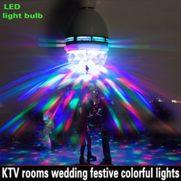Interface The new generation of 3W RGB LED E27 light bulb colorful auto rotating stage lights, disco KTV projector lamp