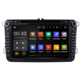 Wholesale Stereo Dvd Vw Golf - Joyous 2 Din Android 5.1 Quad Core 16GB 1024*600 Car DVD Player Stereo Navigation For VW Skoda POLO GOLF PASSAT CC JETTA TIGUAN(with canbus)