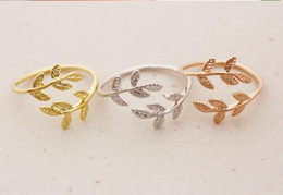 10PCS lot Fashion 18K Gold Plated rings leaves pattern rings for women Wholesale Free shipping