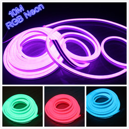 10m 220v 110V RGB flexible tube light strip 5050 smd ip67 outdoor led sign lights 14x26mm for wedding christmas decoration