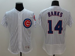 Wholesale New Cubs Baseball Jerseys Elite Men bankS FLEX BASE White Jerseys stitched Top quality Mix Order