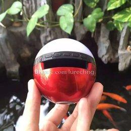 Wholesale Night Light LED Dance Magic Pokeball Mini Bluetooth Speaker Wireless Shower Handsfree Portable MP3 Super Bass TF Card Music Poke Mon Ball