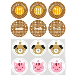 Cute 20sheet Label Sealing Paste Sealing Sticker Baking Cookies Packaging Decorate DIY Sticky Free Shipping