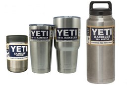 Wholesale 12OZ OZ OZ OZ Stainless Steel Colster can Yeti Coolers Rambler Colster YETI Cups Cars Beer Mug Insulated Koozie yeti stainless color
