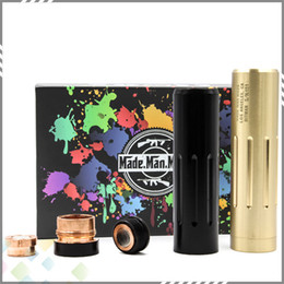 Wholesale Newest The Hitman Mod Mechanical Mod Clone Electronic Cigarette fit Battery Copper or Brass Material by Made Man Mods DHL Free