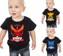 Wholesale DHL Newest Cool Poke T shirts For Baby Kids Cartoon Poke Short Tshirts Summer Kids Clothes Styles to choose