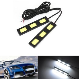 10pcs COB 3LED Car DRL Universal Fog Waterproof Modified Daytime Running Light White DRL TRACK DIY
