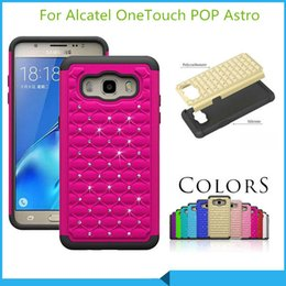 Luxury phone case Armor Hybrid Diamond bling Case Cover For Alcatel OneTouch POP Astro Alcatel Idol 3 5.5 inch