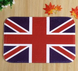 Wholesale The British union jack lives in a bedroom door antiskid mat mixed batch of factory custom