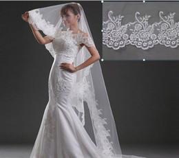 New Elegant Luxury Amazing Best Selling High Quality Romantic Lovey Chapel short Lace Applique veil Bridal Head Pieces For Wedding Dresses
