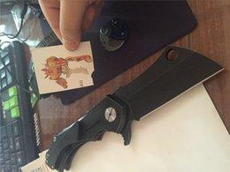 Wholesale Custom Black Radknives Rad Radknife D2 blade Cleaver Titanium Handle Flipper Floding Knife Gear Sports Field Outdoor Hiking Rescue Army Tool