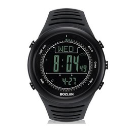 Wholesale Smart watch SP02 Professional Sports Watch meters Waterproof Altimeter Compass Air pressure LED Display Digital Wristwatch