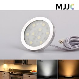 Wholesale 12VDC led puck cabinet light warm white and white puck led light for display case cupboard cabinet decoration