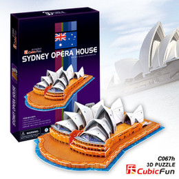Wholesale Candice guo Hot sale D puzzle architectural D paper model jigsaw game Sydney Opera House