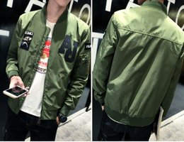 Wholesale 2016 New Arrival Mens brand clothing High Quality Army Green motorcycle Flight Jacket Pilot Air Force Men Bomber baseball Jacket